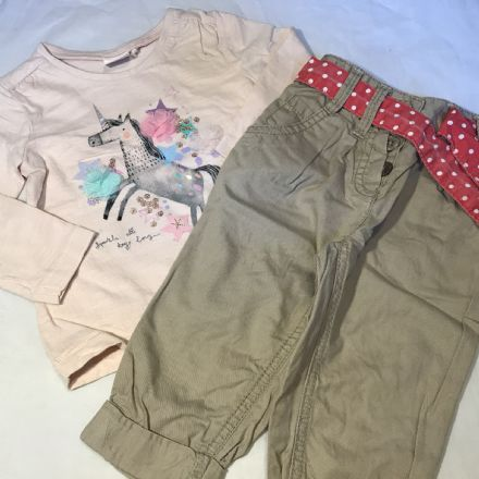 6-9 Month Trousers and Top